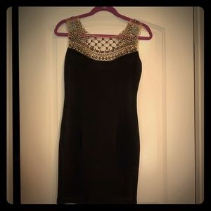 Sexy Little Black Dress with beaded details